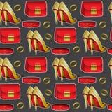Patroon van vrouwelijk materiaal, Achtergrond voor kleding of andere vector illustratie