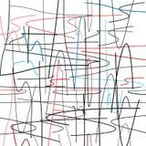 Patroon van willekeurige gekleurde krommen stock illustratie