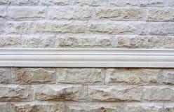Patroon van Witte Moderne Bakstenen muur Stock Foto