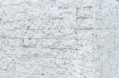 Patroon van Witte Moderne Opgedoken steenBakstenen muur Stock Foto