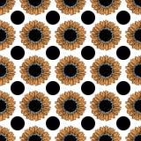 Patroon van zonnebloemen Royalty-vrije Stock Fotografie