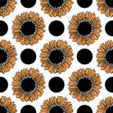 Patroon van zonnebloemen Stock Afbeeldingen