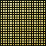 Patroon van zwart-gele rooster op een muuroppervlakte. Stock Afbeeldingen