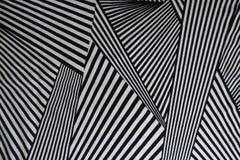 Patroon van zwart-witte lijnen op stof royalty-vrije stock fotografie