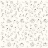 Patroon vectorsilhouetten van groenten Royalty-vrije Stock Foto's
