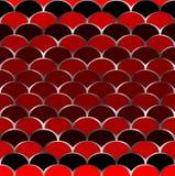 Patroon in vissenschalen vector illustratie