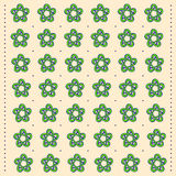 Patroon in volksstijl met bloemenornament Stock Foto's