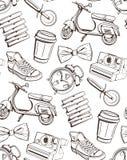 Patroon voor café, restaurants, bars, pizzerias Royalty-vrije Stock Afbeeldingen