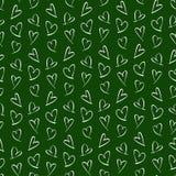Patroon voor de Kaart van de Valentijnskaartendag stock afbeelding
