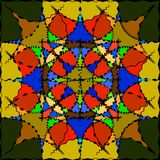 Patroon voor glas in kleur vector illustratie