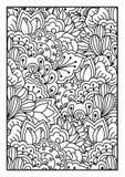 Patroon voor het kleuren van boek Royalty-vrije Stock Foto