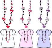 Patroon voor meisjesbovenkant royalty-vrije illustratie