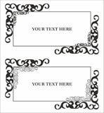 Patroon voor tekst met decor Royalty-vrije Stock Afbeelding