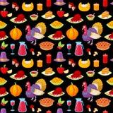 Patroon voor thanksgiving day Stock Foto