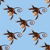 Patroon vrolijke apen Royalty-vrije Stock Foto