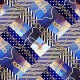 Patroon in zeevaartstijl Royalty-vrije Stock Fotografie