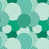 Patroonachtergrond - groene spiralen Royalty-vrije Stock Fotografie