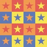 Patroonachtergrond met vierkanten en sterren. Royalty-vrije Illustratie