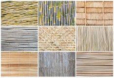 Patroonachtergrond van bamboe Royalty-vrije Stock Afbeeldingen