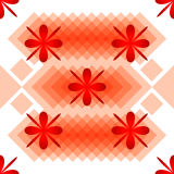 Patroonbloemen en ruiten Stock Afbeeldingen