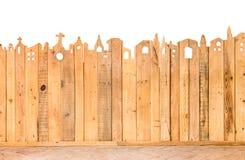 Patroondetail van omheinings houten textuur Stock Foto's
