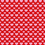 Patroonharten op een rode achtergrond stock illustratie