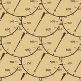 Patroonillustratie van een maat van de drukmeter Royalty-vrije Stock Foto's