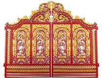 Patroonontwerp van metaalpoort Royalty-vrije Stock Afbeelding