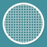 Patroonornament voor laserknipsel Geometrisch rond kader Binnenlands decoratief element Royalty-vrije Stock Afbeeldingen