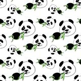 Patroonpanda vector illustratie