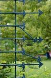 Patroonpijl bij gezond park royalty-vrije stock afbeelding