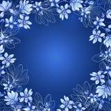 patroszeni kwiaty sztandaru karty przestrzeni tekst akwarela Zdjęcie Stock
