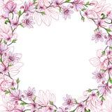 patroszeni kwiaty sztandaru karty przestrzeni tekst akwarela Obraz Royalty Free
