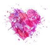 Patroszeni serca, farby pluśnięcia dla i Zdjęcia Royalty Free