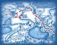 Patroszona mapa Zdjęcie Stock