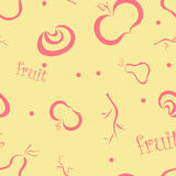 Patroszone owoc na Beżowym tle ilustracji