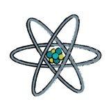 Patroszony atom molekuły struktury model Obraz Stock
