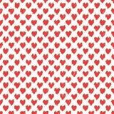 Patroszony bezszwowy skrobanin serc kształtów wzór Abstrakcjonistyczna doodle ilustracja ilustracji