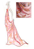 patroszony mody ręki nakreślenie ilustracja wektor