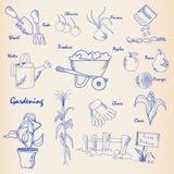 patroszony ogrodowy ręki ikony set Zdjęcia Royalty Free