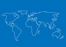 patroszony ręki mapy świat Obraz Royalty Free