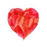 Patroszony serce dla walentynki ` s ślubów lub dnia Obraz Royalty Free