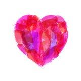 Patroszony serce dla walentynki ` s ślubów lub dnia Obrazy Royalty Free