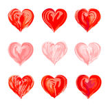 Patroszony serce dla walentynki ` s ślubów lub dnia Zdjęcie Royalty Free