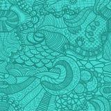 patroszony trawy ręki wzór bezszwowy Fotografia Stock