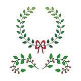 patroszonych elementów kwiecista ręka Set kwiaty i dekoracyjni elementy Royalty Ilustracja