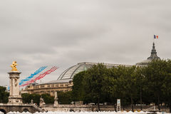 Patrouille巴士底日的de法国在巴黎- La PAF倾吐le 14 Juillet Ã巴黎 免版税图库摄影