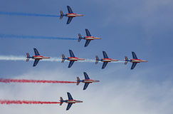 Patrouille Acrobatique de Francia Fotografía de archivo libre de regalías