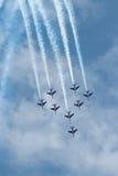 Patrouille Acrobatique de Francja w Rzym Zdjęcia Royalty Free