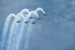 Patrouille Acrobatique De Frankreich in Rom lizenzfreies stockbild